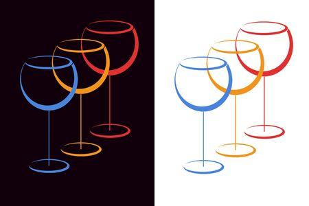 Color glasses of wihe photo
