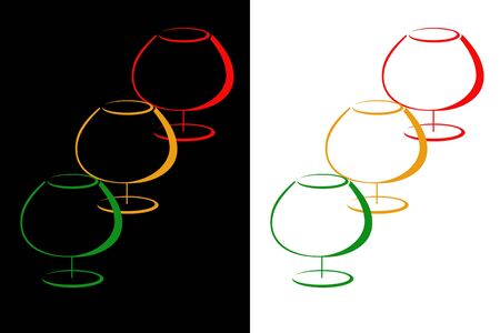 Color glasses of cognac Stock Photo - 9302972