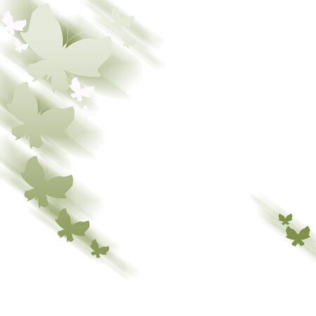feeler: Background with green abstract butterflies