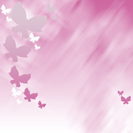 Abstract pink background wich butterflies photo
