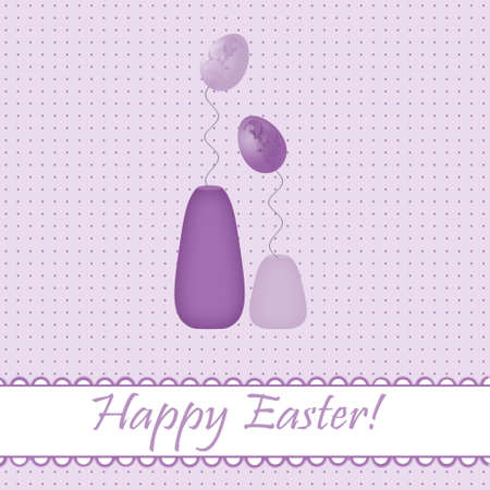 Easter card  with colored eggs photo