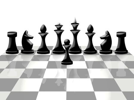 chessmen: Composition of chessmen on chessboard