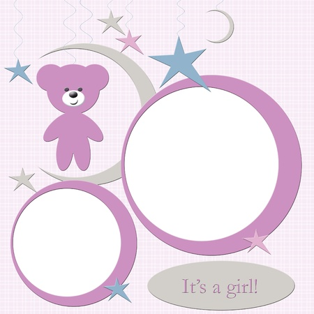 Pink baby girl photo frame Stock Photo - 11448259