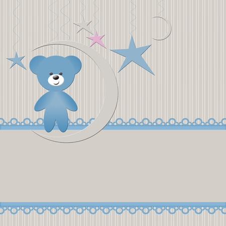 Babies background with bear photo