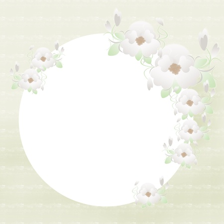 Floral frame with flowers Stock Photo - 11448257