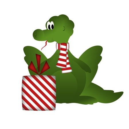 Dragon with gift photo