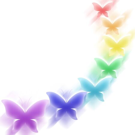 butterflies abstract: Background with colorful butterflies Stock Photo