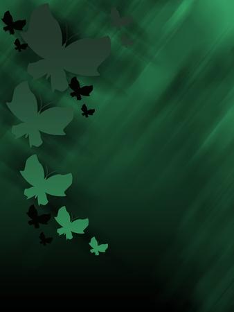 fondo verde oscuro: Resumen de fondo verde oscuro con las mariposas