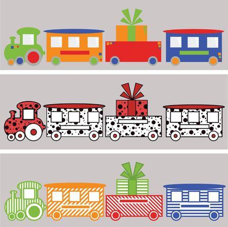 Color trains photo