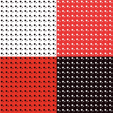 Backgrounds of polka dot patterns vector Vector