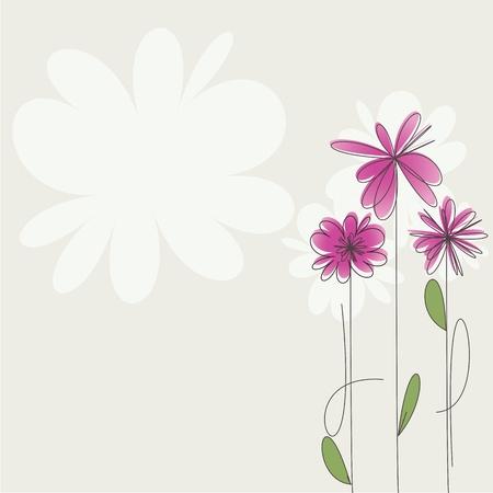 fuchsia: Pink flowers Illustration