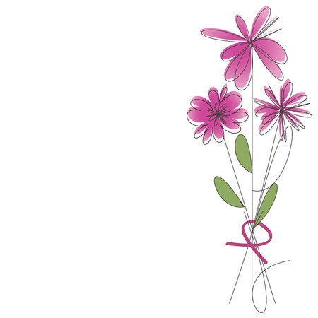 Bouquet of pink flowers Stock Vector - 12467136