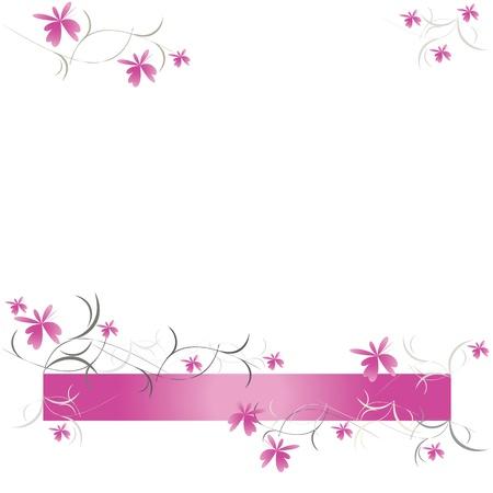 Florale Muster der rosa Blumen Vektor Standard-Bild - 12467147