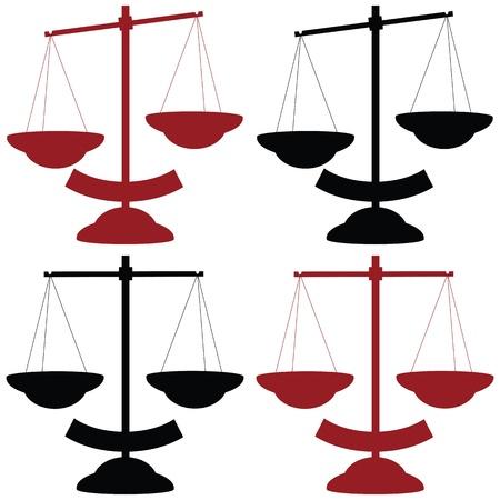 Balance scale vector Stock Vector - 12467153