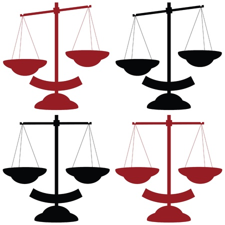 ungleichgewicht: Waagschale Vektor