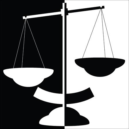 trial balance: Balance de blanco y negro vector de escala