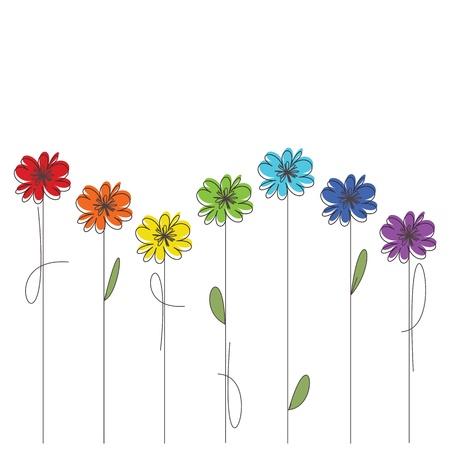 Bunte Blumen Standard-Bild - 12467188