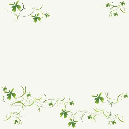 floral border frame: Green floral pattern