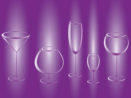 lila: Wineglasses