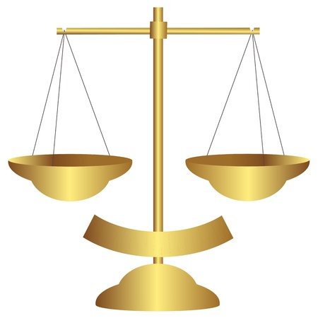 legitimacy: Gold balance scale