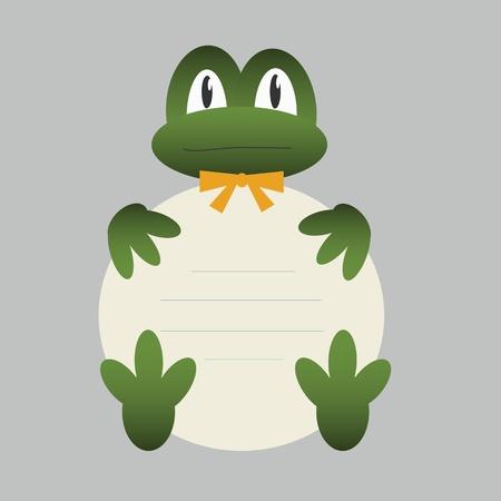 animal frame: Frog with banner