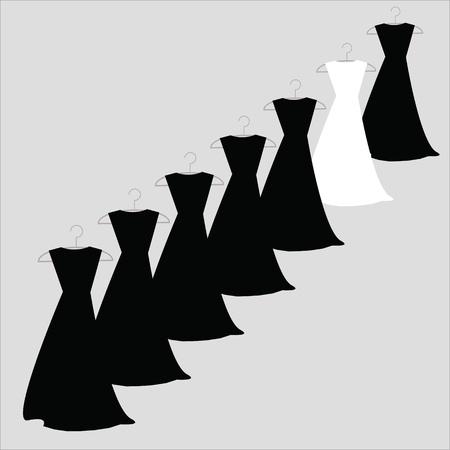 Robes en noir et blanc