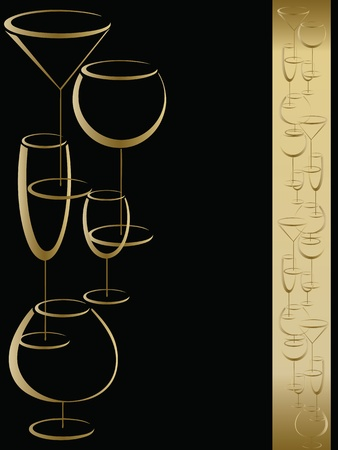 liquor: Bar wine card menu Illustration
