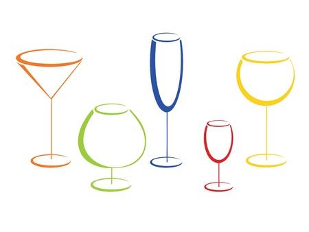 liqueur: Color wineglasses