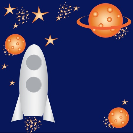 outer: Children cosmic background Illustration