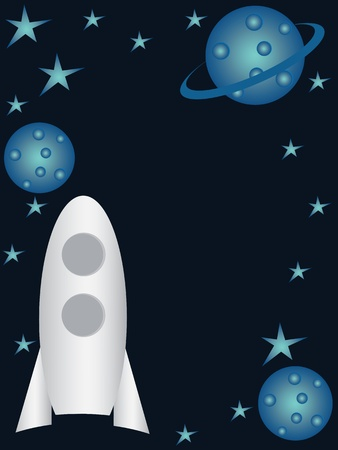 Children cosmic background Vector