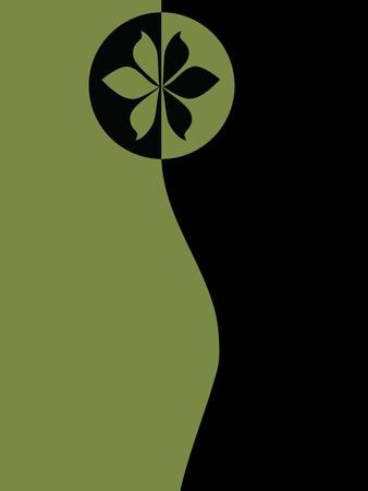 Grüner und schwarzer Hintergrund Standard-Bild - 13662531