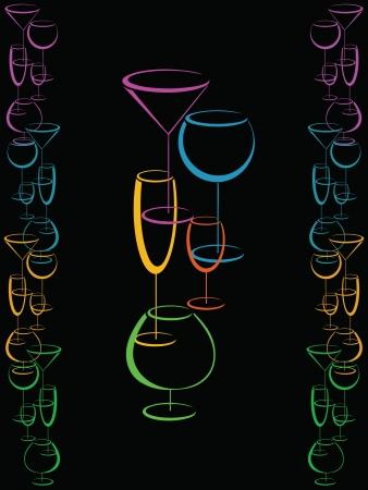 liquors: Color bar card menu