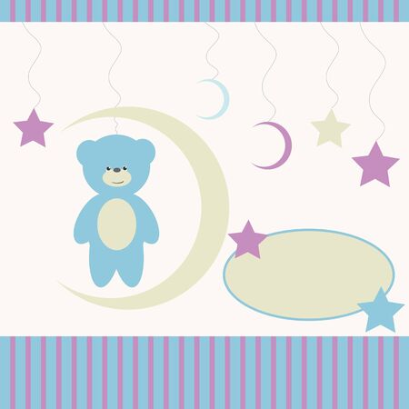 Baby background with name tag Vector