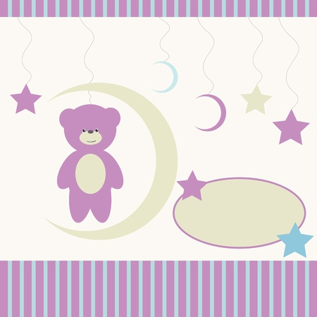 baby girl background: Baby girl background  Illustration