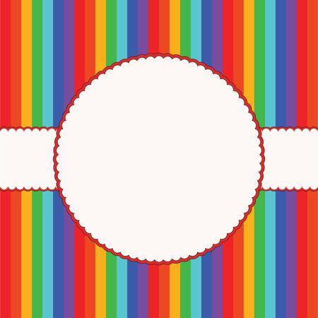 Colorful children background frame  Vector