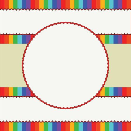 Colorful children background frame  Vector