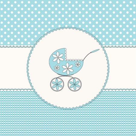 Baby boy blue background