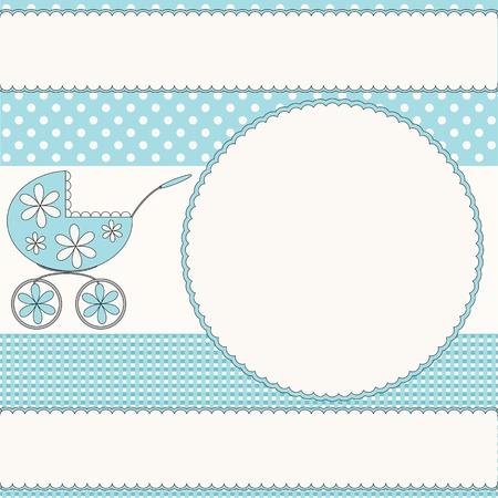Baby boy photo frame Vector