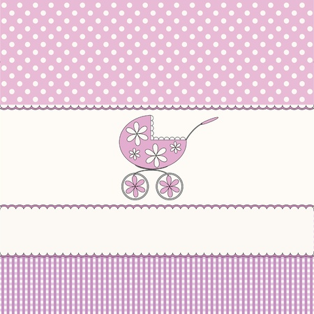 Babies pink background Vector
