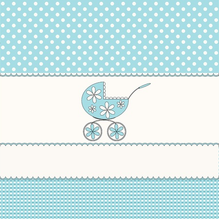 Babies blue background  Vector