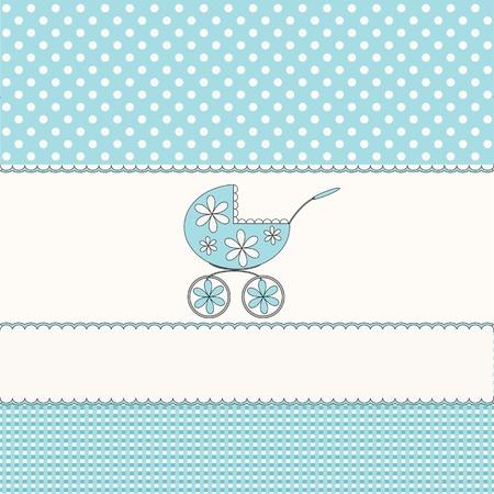 Babies blue background  Vector