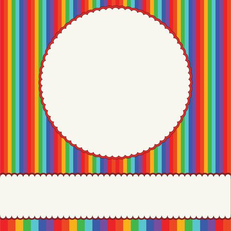 Children colorful photo frame Vector