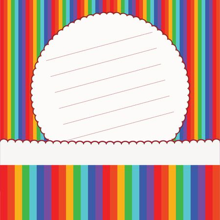 Colorful striped invitation card  Vector