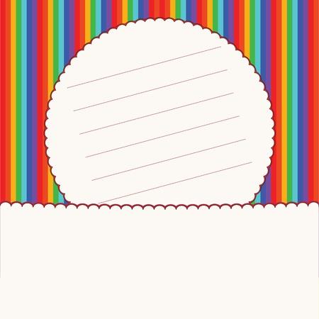 Colorful striped invitation card  Vector