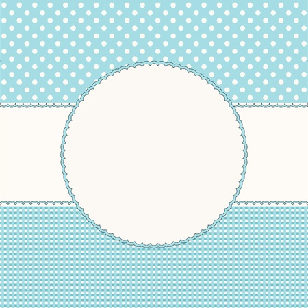 Blue babies background with frame