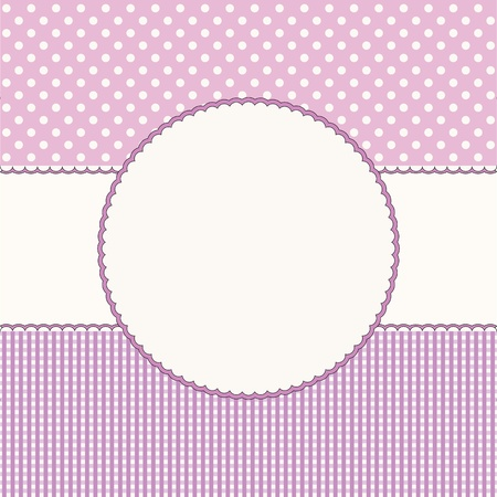 Pink babies background with frame  Vector