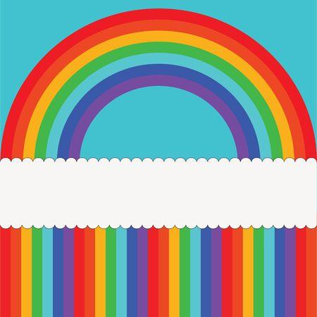 Children background with rainbow  Vector