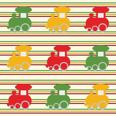 Children seamless background with colo trains Stock Vector - 13739729