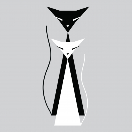 greenpeace: Black and white cats Illustration