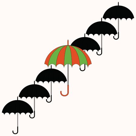 Umbrellas Stock Vector - 13854015
